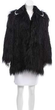Giamba Short Faux Fur Coat