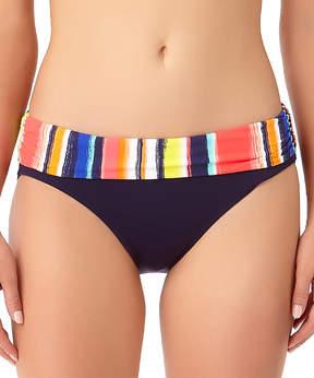 Anne Cole Red & Black Stripe Bikini Bottoms - Women