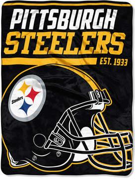 Northwest Company Pittsburgh Steelers Micro Raschel 46x60 40 Yard Dash Blanket