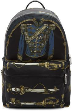 Dolce & Gabbana Black Knight Uniform Backpack
