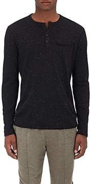 ATM Anthony Thomas Melillo Men's Donegal-Effect Cotton-Blend Henley