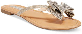 INC International Concepts Women's Mabae Bow Flat Sandals, Created for Macy's Women's Shoes