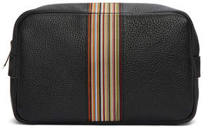 Paul Smith Black Leather Multistripe Pouch