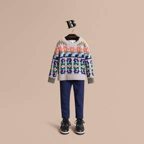 Burberry Exploded Fair Isle Wool Cashmere Sweater