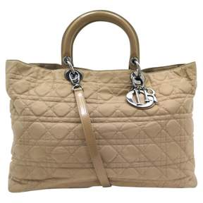 Christian Dior Beige Cloth Handbag
