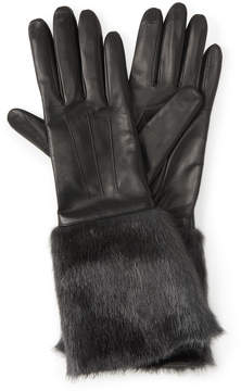 Henri Bendel Blake Faux Fur Leather Gloves
