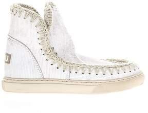 Mou Eskimo Summer White Leather Sneakers