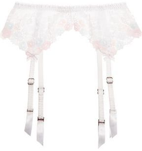 Agent Provocateur Petunia Embroidered Tulle Suspender Belt