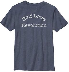 Fifth Sun Navy Heather 'Self Love Revolution' Crewneck Tee - Youth