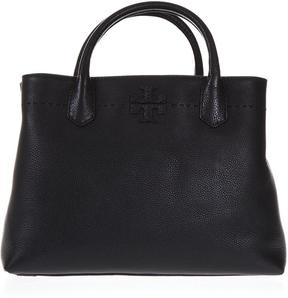 Tory Burch Mcgraw Leather Bag With Three Compartments - BLACK - STYLE