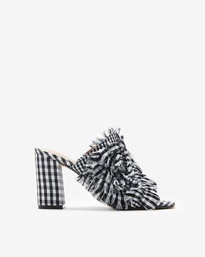 Express Gingham Heeled Slide Sandals