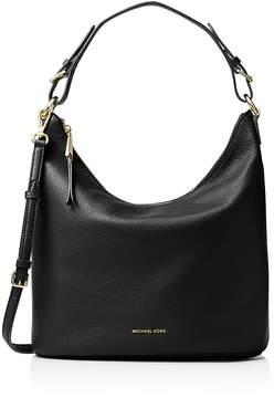 MICHAEL Michael Kors Lupita Large Leather Hobo - BLACK/GOLD - STYLE