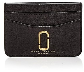 Marc Jacobs Double J Leather Card Case - BLACK/GOLD - STYLE