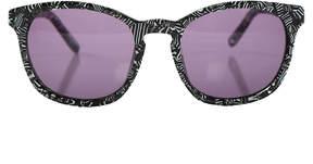 Alexander Wang linda farrow x  Zebra Print Sunglasses