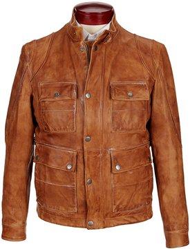 Murano Lambskin Leather Field Coat
