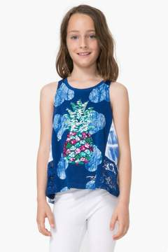 Desigual Sequin Sleeveless Shirt