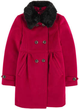 Derhy Kids Flared coat with a removable collar