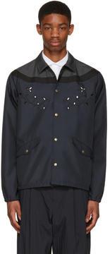 Kolor Navy Contrast Shirt Jacket