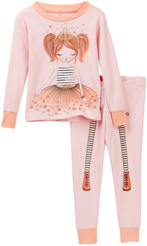 Petit Lem Princess Tutu Long Sleeve Pajama Set (Baby Girls)