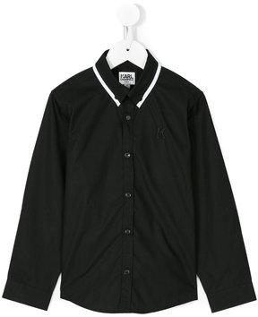 Karl Lagerfeld contrast collar shirt