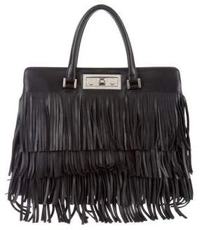 Saint Laurent Medium Trois Clous Tote - BLACK - STYLE