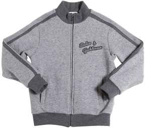 Dolce & Gabbana Two Tone Zip-Up Cotton Sweatshirt