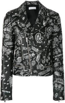 IRO Palma paisley-print biker jacket