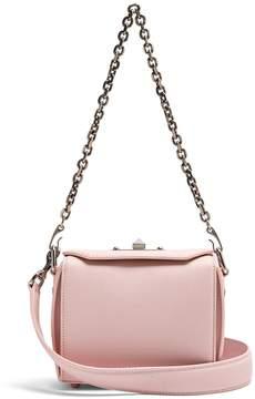 Alexander McQueen Box 16 mini grained-leather shoulder bag
