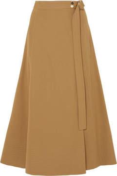 Vanessa Bruno Cotton-blend Twill Wrap Skirt - Beige