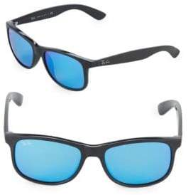 Ray-Ban 55MM Mirrored Square Sunglasses
