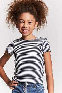 Forever 21 Girls Stripe Ribbed Knit Tee (Kids)
