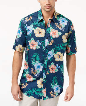 Club Room Men's Hibiscus-Print Shirt, Created for Macy's