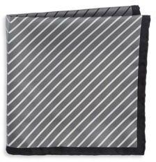 Black & Brown Black Brown Silk Mixed Stripe Pocket Square