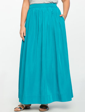 ELOQUII Taffeta Ball Gown Maxi Skirt