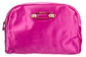 Jimmy Choo Satin Cosmetic Bag