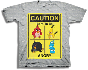 Freeze Heather Gray Angry Birds 'Born to be Angry' Tee - Boys