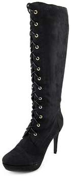 XOXO Normandy Canvas Knee High Military Boots.