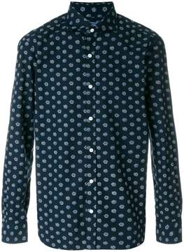 Barba floral embroidered fitted shirt
