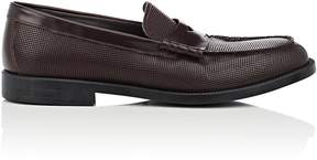 Emporio Armani Men's Textured Leather Penny Loafers