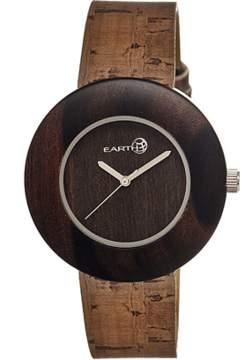 Earth Wood Ligna Leather-band Watch.