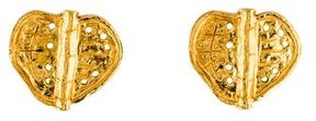 Christian Lacroix Perforated Double Leaf Clip-On Earrings