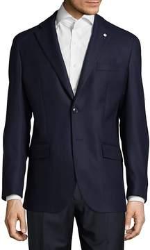 Lubiam Men's Modern Fit Textured Wool Sportcoat