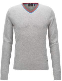 BOSS Hugo Cotton-Wool Sweater Pellini L Open Grey