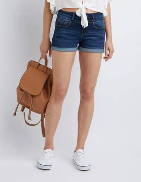 Charlotte Russe Cuffed Denim Shorts