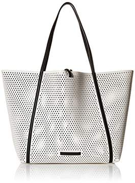 Armani Exchange A X Big Perforated Shopping Tote
