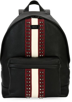 Bally Hingis Studded Leather Backpack, Black