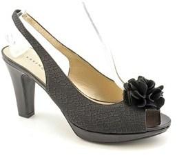 Karen Scott Bloom Peep-toe Synthetic Slingback Sandal.