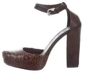 Brunello Cucinelli Python Ankle Straps Pumps w/ Tags