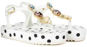 Dolce & Gabbana Platform sandals with embellishment
