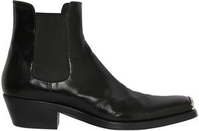 Metal Toe Leather Chelsea Boots